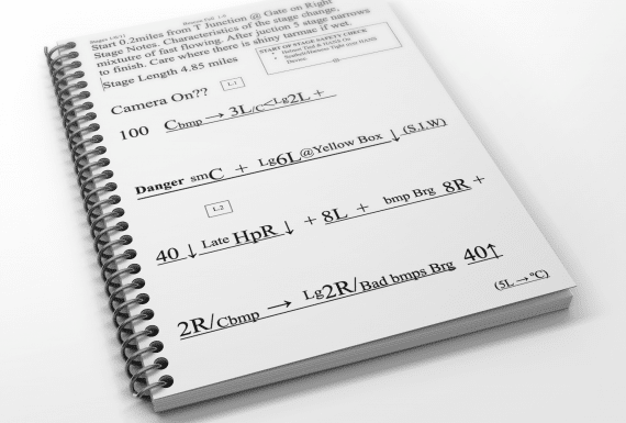 Sample Pacenotes in 1-9 Style